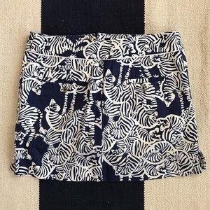 Lily Pulitzer Skort Size 0 (fits 2-4) Navy Zebra